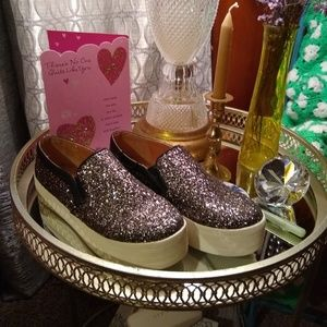 Brand new sequined sneakers